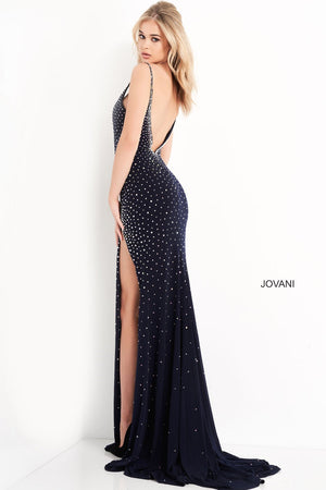 Jovani 06216 prom dress images.  Jovani 06216 is available in these colors: Navy, Red, Blush, White.