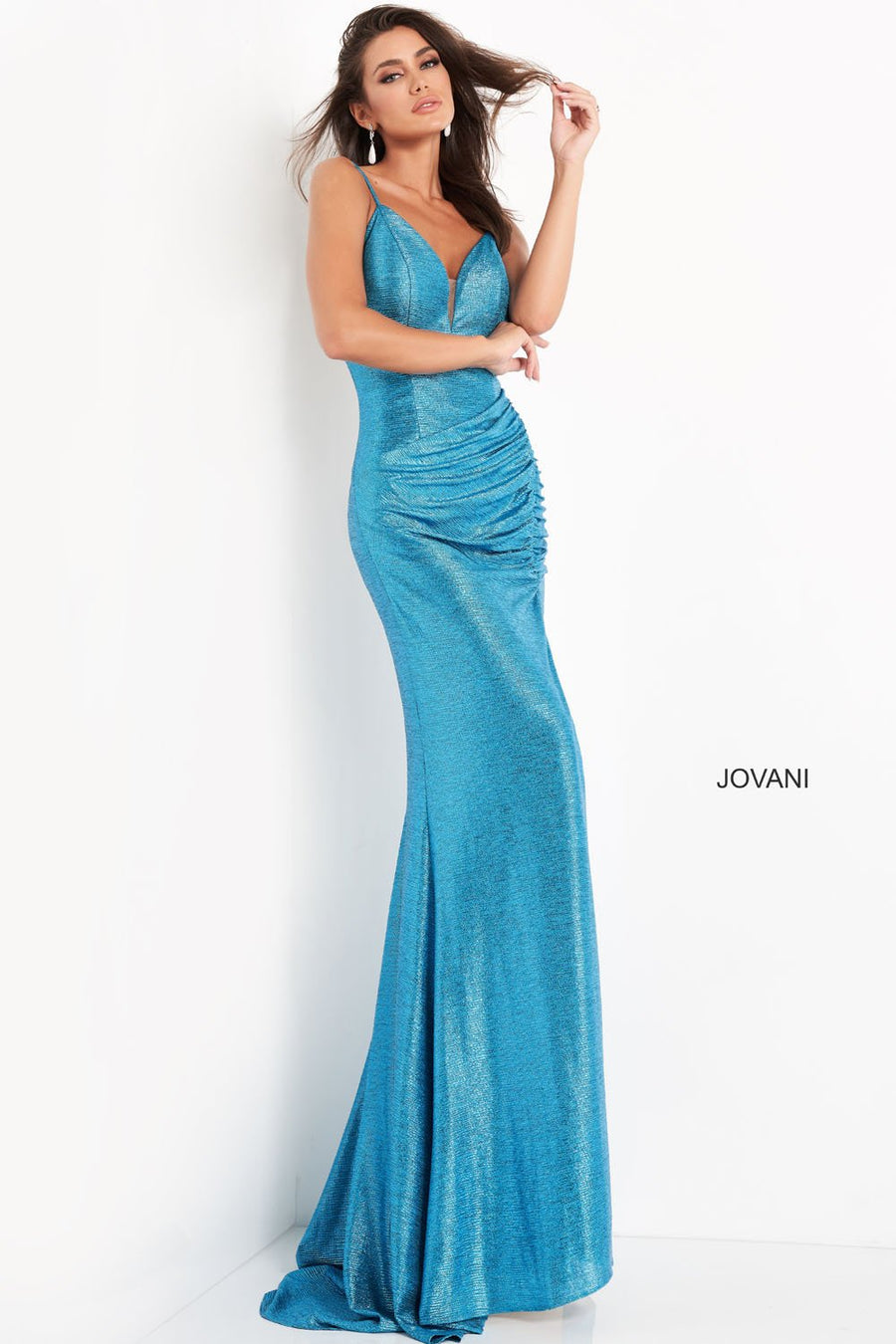 Jovani 06368 prom dress images.  Jovani 06368 is available in these colors: Iris, Turquoise.