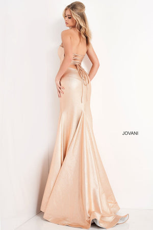 Jovani 06427 prom dress images.  Jovani 06427 is available in these colors: Chamagne, Red, Hot Pink, Green.