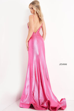 Jovani 06525 prom dress images.  Jovani 06525 is available in these colors: Hot Pink, Red, Green, Champagne.