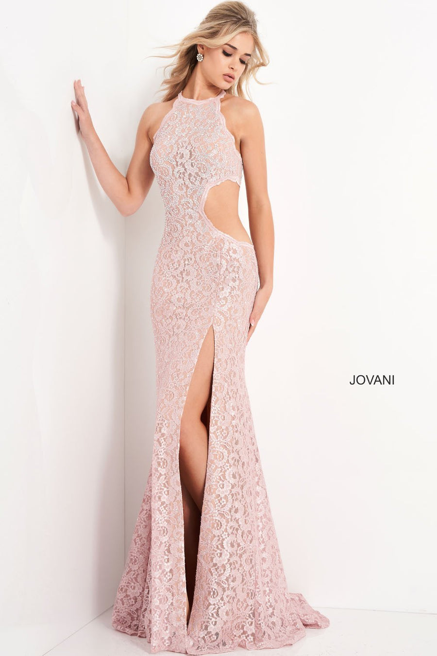 Jovani 06584 prom dress images.  Jovani 06584 is available in these colors: Blush.