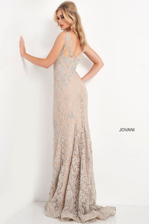 Jovani 06722 prom dress images.  Jovani 06722 is available in these colors: Champagne.