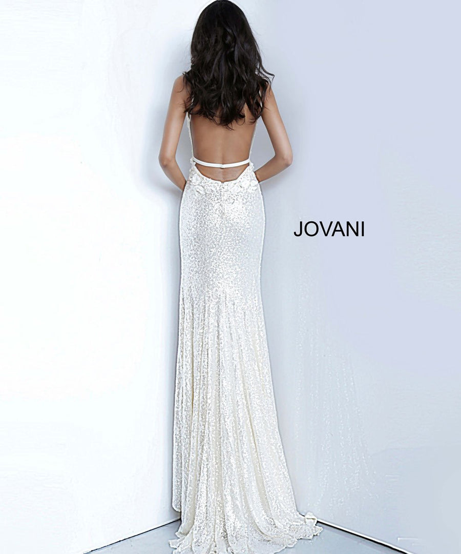 Jovani 1012 prom dress images.  Jovani 1012 is available in these colors: Cream, Light Blue, Rose Gold.