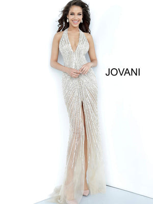 Jovani 2609 prom dress images.  Jovani 2609 is available in these colors: Nude.