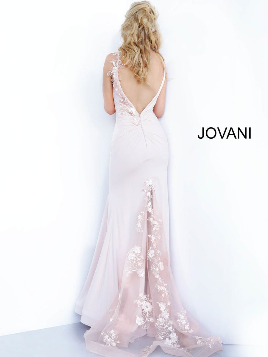 Jovani 1074 prom dress images.  Jovani 1074 is available in these colors: Blush.