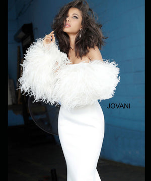 Jovani 1226 prom dress images.  Jovani 1226 is available in these colors: Black, Blush, White.
