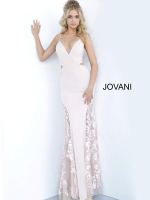 Jovani 3770 prom dress images.  Jovani 3770 is available in these colors: Blush.