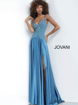 Jovani 4287 prom dress images.  Jovani 4287 is available in these colors: Black, Fuchsia, Peacock.