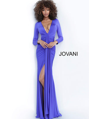 Jovani 64983 prom dress images.  Jovani 64983 is available in these colors: Black, Blush, Deep Royal, Hot Pink.