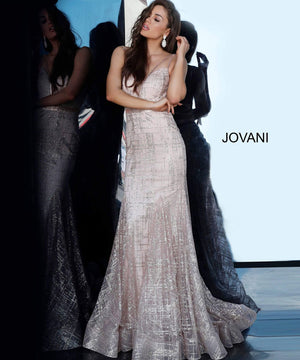 Jovani 2388 prom dress images.  Jovani 2388 is available in these colors: Champagne Blush, Navy, Red.