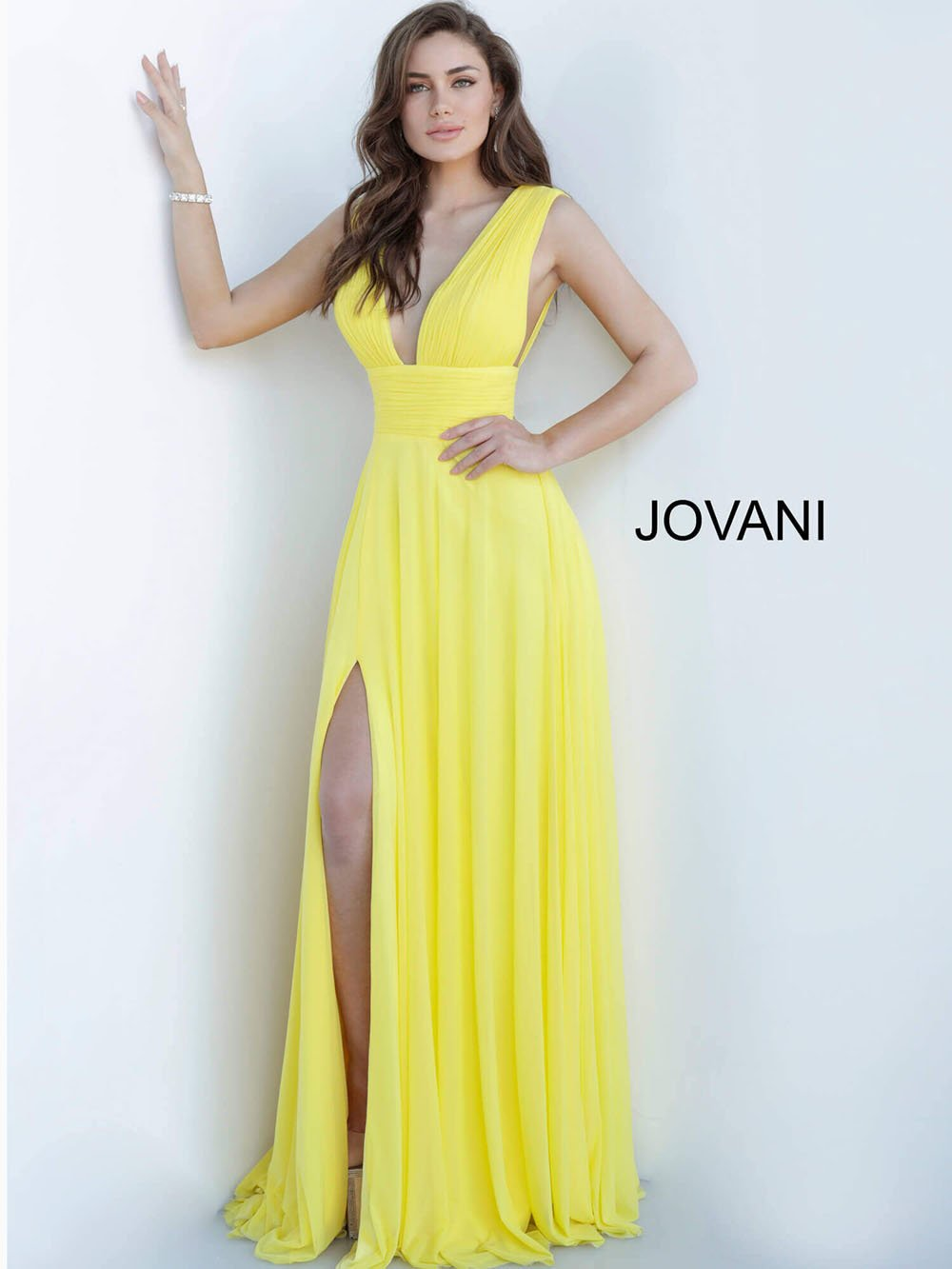 Jovani 2585 prom dress images.  Jovani 2585 is available in these colors: Black, Red, Royal Yellow.