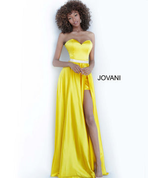 Jovani 3106 prom dress images.  Jovani 3106 is available in these colors: Fuchsia, Green, Lilac, Royal, Yellow.