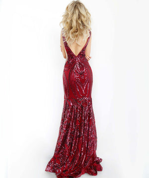 Jovani 3186 prom dress images.  Jovani 3186 is available in these colors: Black, Merlot, Navy, White.