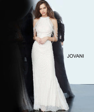 Jovani 3363 prom dress images.  Jovani 3363 is available in these colors: Black Nude, Off White Nude.