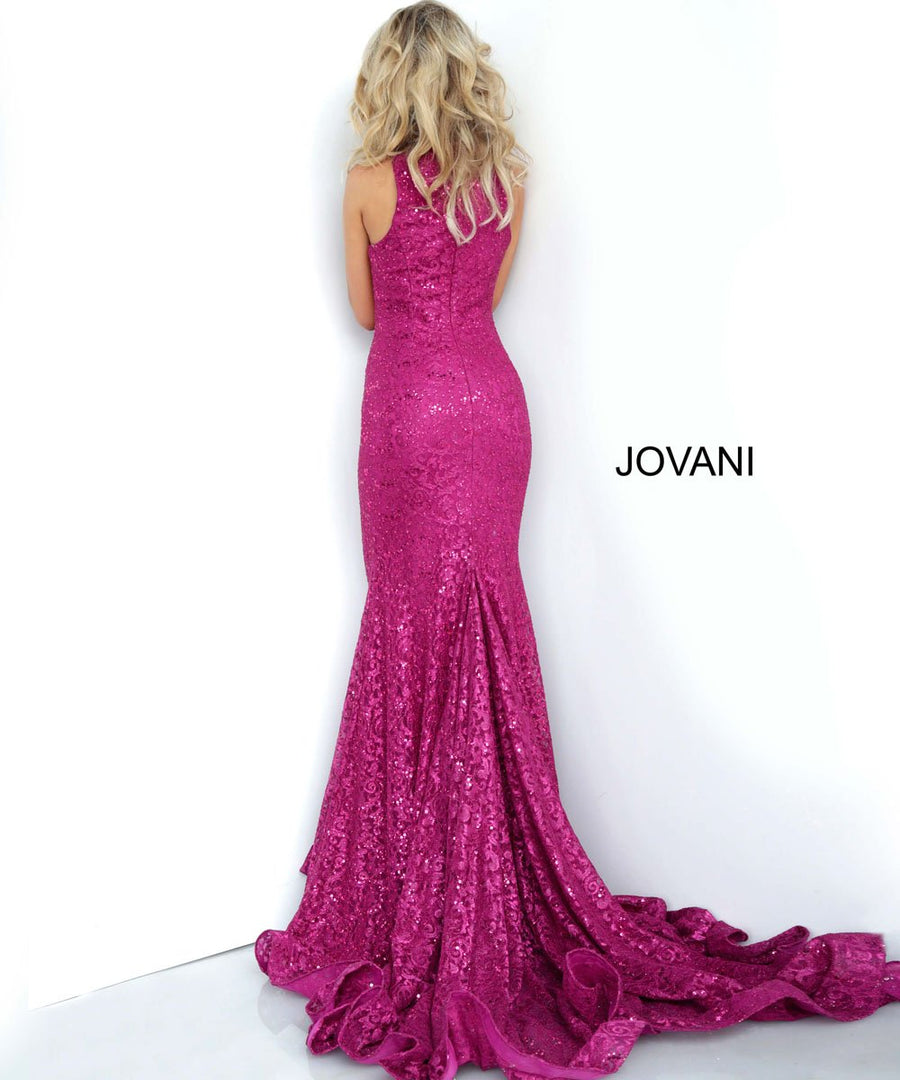 Jovani 3559 prom dress images.  Jovani 3559 is available in these colors: Black, Fuchsia, Peacock, Red.