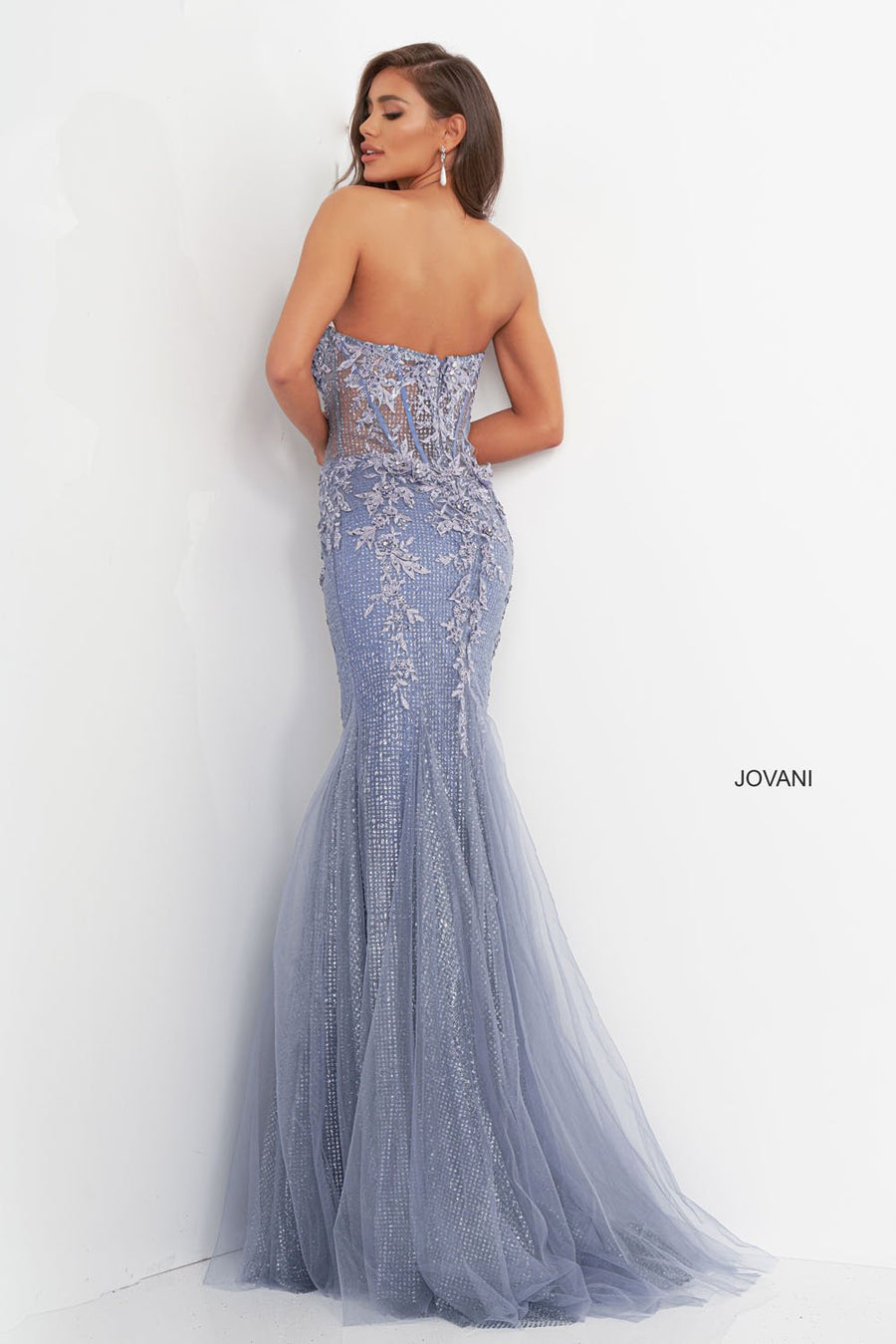 Jovani 3623 prom dress images.  Jovani 3623 is available in these colors: Grey Purple.