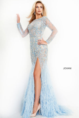 Jovani 37580 prom dress images.  Jovani 37580 is available in these colors: Black, Light Blue.