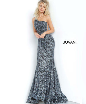 Jovani 3927 prom dress images.  Jovani 3927 is available in these colors: Black, Black Blue, Peacock, Red.