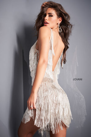 Jovani 4001 prom dress images.  Jovani 4001 is available in these colors: Nude Silver.