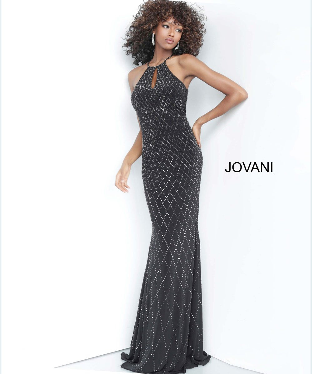 Jovani 4033 prom dress images.  Jovani 4033 is available in these colors: Black, Light Blue, Red.