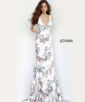 Jovani 4074 dresses are available in the following colors: White Multi.