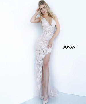 Jovani 4084 prom dress images.  Jovani 4084 is available in these colors: Light Blue, Red, Rose Gold, White.