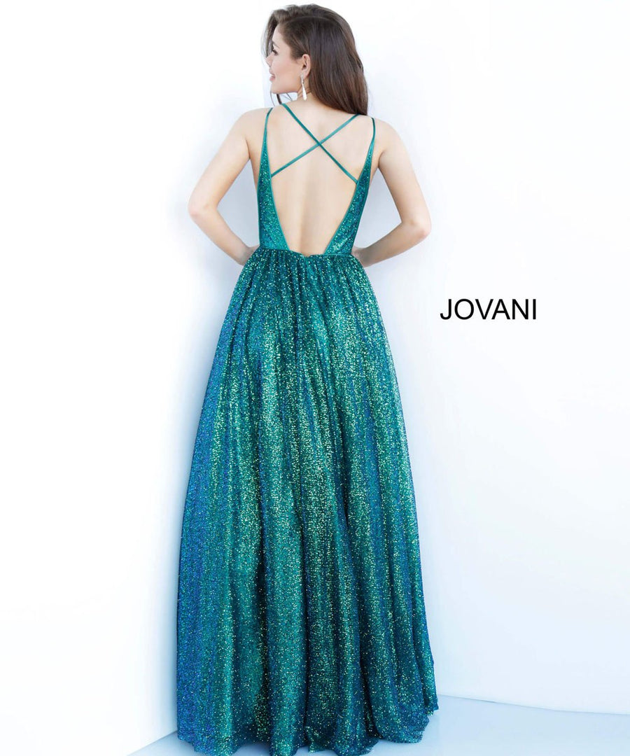 Jovani 4198 prom dress images.  Jovani 4198 is available in these colors: Champagne, Emerald.