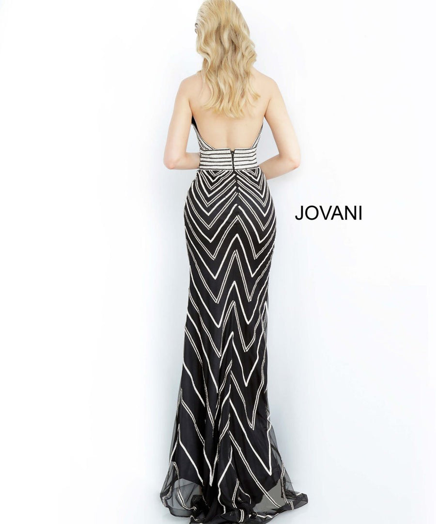 Jovani 4341 prom dress images.  Jovani 4341 is available in these colors: Black, White.