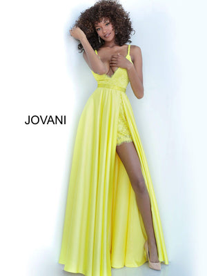 Jovani 68426 prom dress images.  Jovani 68426 is available in these colors: Black, Ivory, Red, Royal, Yellow.