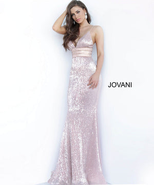 Jovani 4697 prom dress images.  Jovani 4697 is available in these colors: Black, Rose Gold.