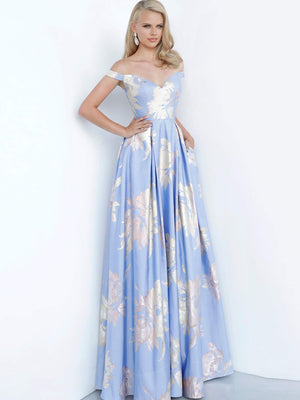 Jovani 48361 prom dress images.  Jovani 48361 is available in these colors: Black, Blue, Black Multi, Pink.