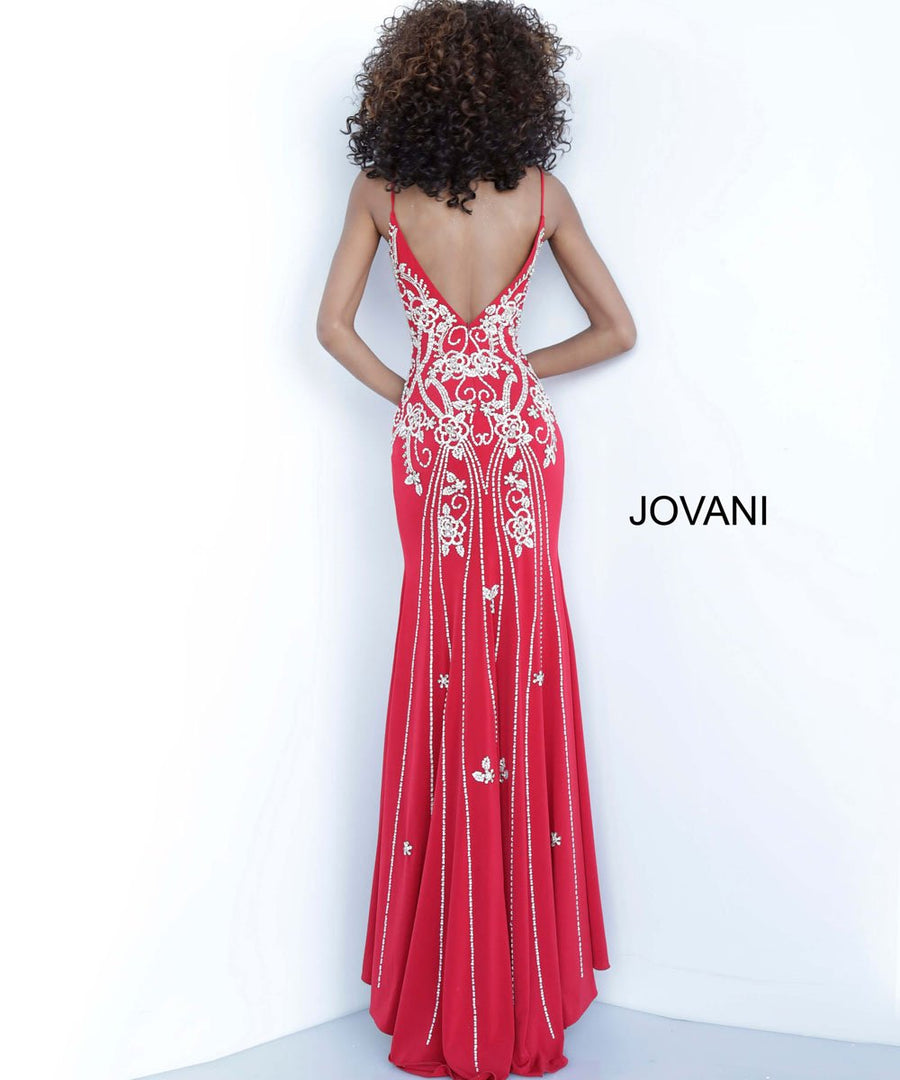 Jovani 54927 prom dress images.  Jovani 54927 is available in these colors: Black, Blush, Nude, Red, Slate, Yellow.