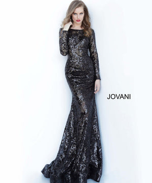 Jovani 55535 prom dress images.  Jovani 55535 is available in these colors: Black.
