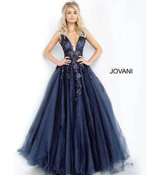 Jovani 55634 prom dress images.  Jovani 55634 is available in these colors: Champagne, Navy Black, Off White Blush, Off White Light Blue, Off White Lilac, Off White Off White, Off White Yellow, Red, Teal.