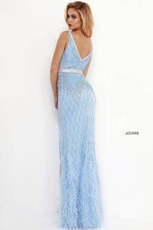 Jovani 55796 prom dress images.  Jovani 55796 is available in these colors: Black, Ivory, Light Blue.