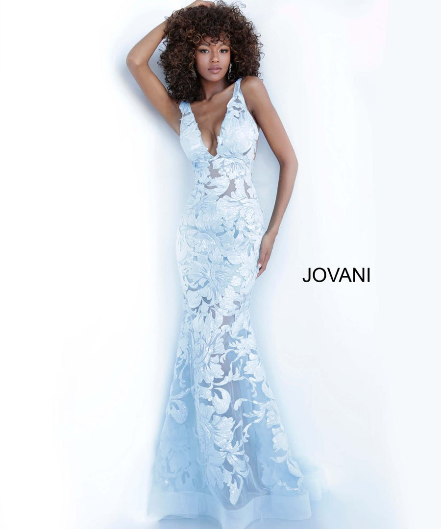 Jovani 60283 prom dress images.  Jovani 60283 is available in these colors: Yellow.