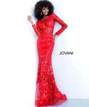 Jovani 60285 prom dress images.  Jovani 60285 is available in these colors: Black, Blush, Red, Royal, White.