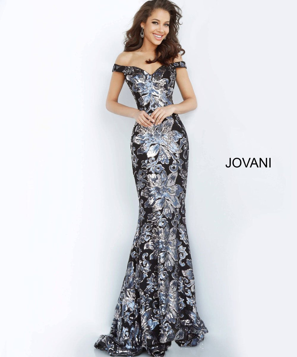 Jovani 63516 prom dress images.  Jovani 63516 is available in these colors: Black Gunmetal, Copper Gold.