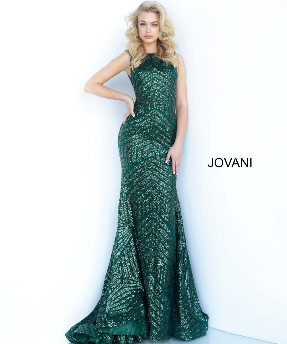 Jovani 64807 prom dress images.  Jovani 64807 is available in these colors: Black, Hunter, Rose Gold, White.