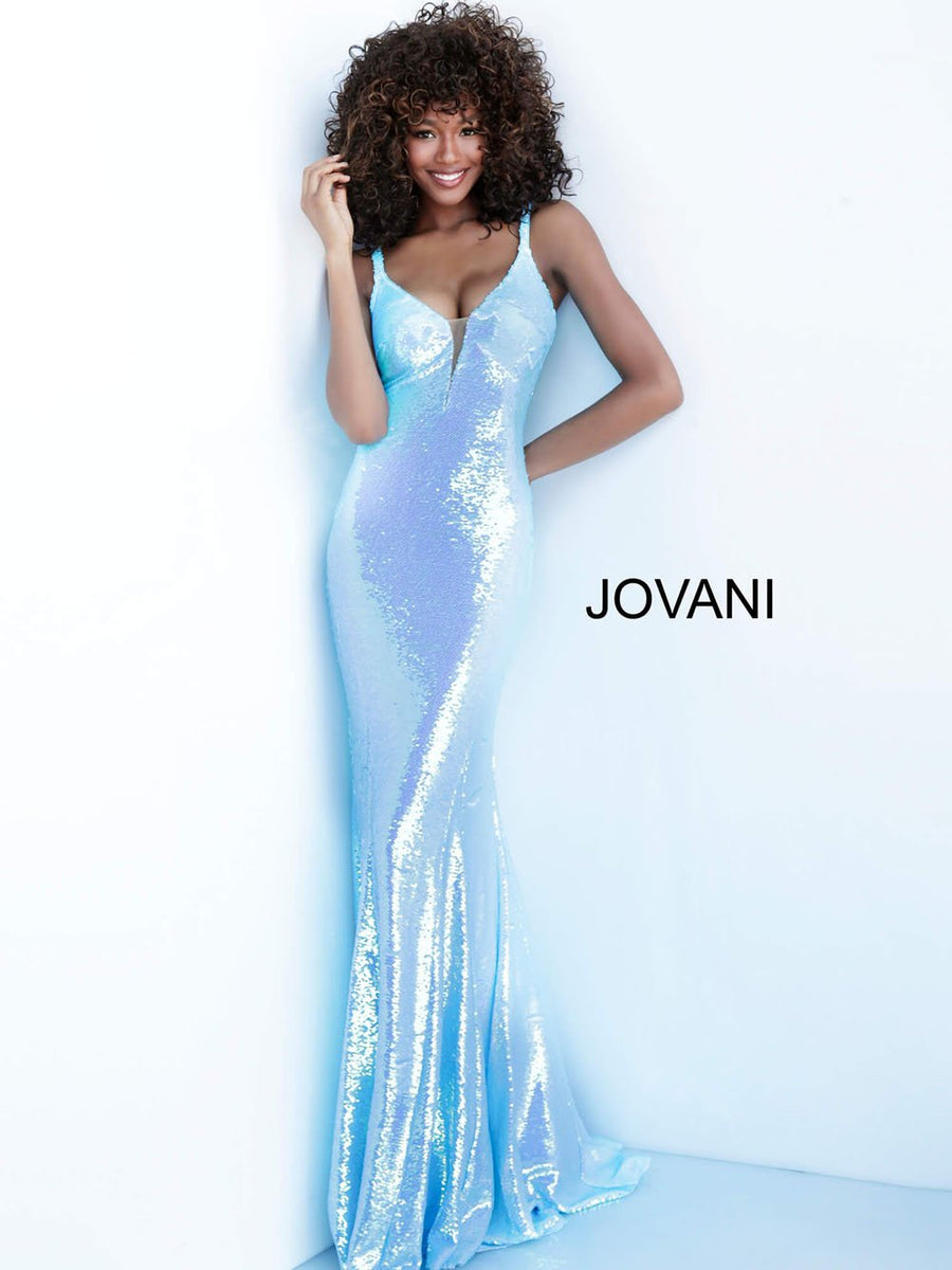 Jovani 65070 prom dress images.  Jovani 65070 is available in these colors: Blue, Coral, White.