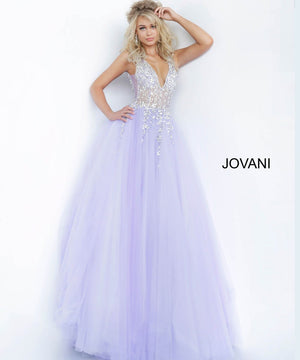 Jovani 65379 prom dress images.  Jovani 65379 is available in these colors: Grey, Lilac.