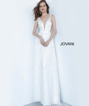 Jovani 66168 prom dress images.  Jovani 66168 is available in these colors: Off White, Perriwinkle, Red.