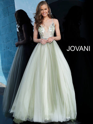 Jovani 66352 prom dress images.  Jovani 66352 is available in these colors: Olive Offwhite.