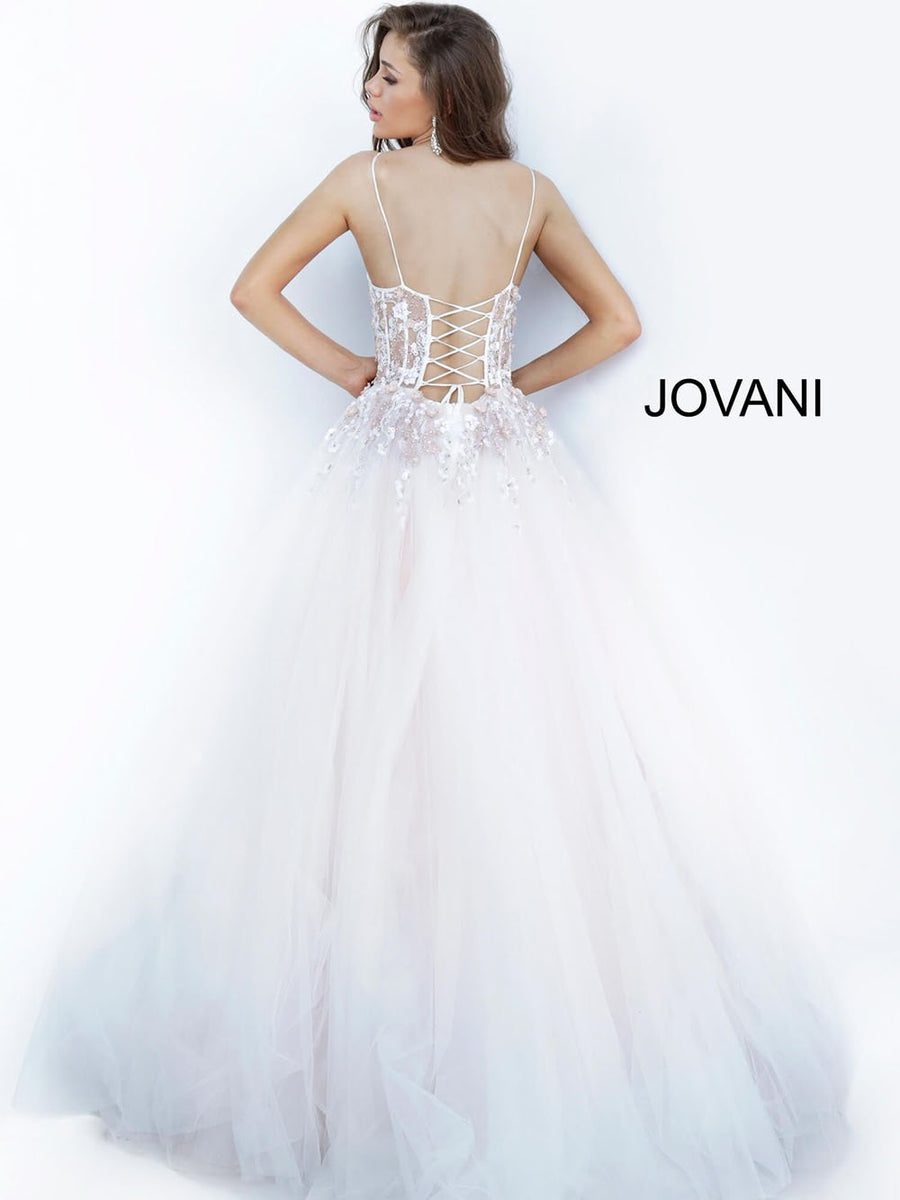 Jovani 66725 prom dress images.  Jovani 66725 is available in these colors: Blush.