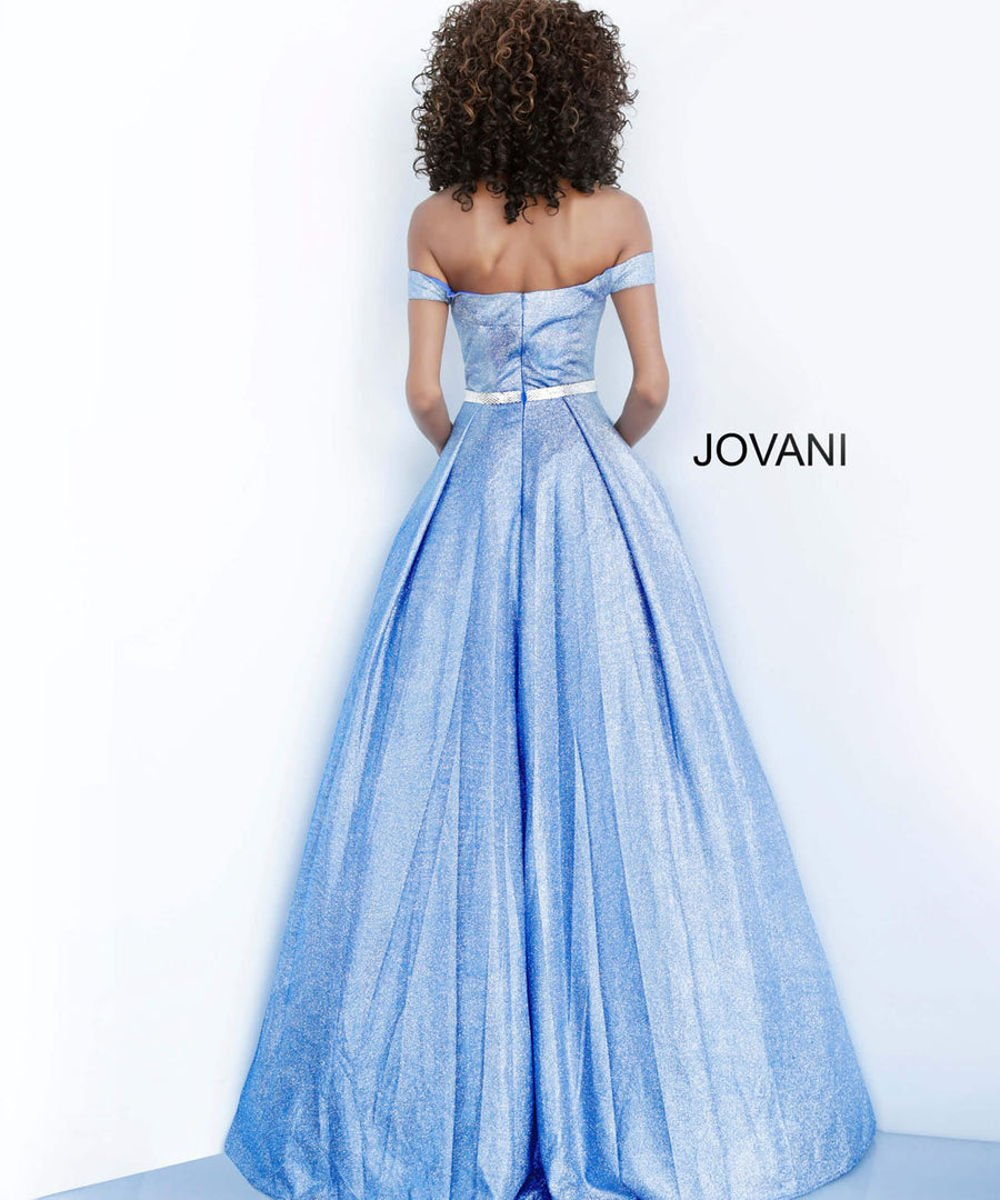 Jovani 66950 prom dress images.  Jovani 66950 is available in these colors: Dusty Rose, Green, Royal.