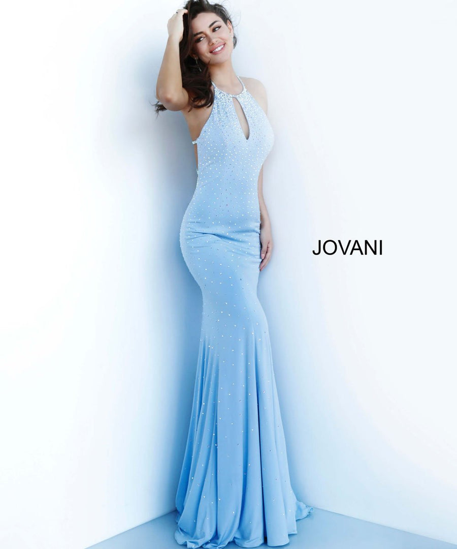 Jovani 67101 prom dress images.  Jovani 67101 is available in these colors: Black, Blush, Light Blue, Mauve, Red, White.