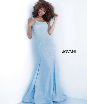 Jovani 67650 prom dress images.  Jovani 67650 is available in these colors: Black Multi, Light Blue, Mauve, Navy, Peacock, Wine, White Silver.