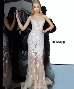 Jovani 67786 prom dress images.  Jovani 67786 is available in these colors: Black, Silver Nude.