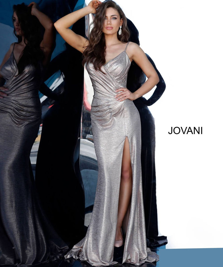 Jovani 67798 prom dress images.  Jovani 67798 is available in these colors: Copper, Navy, Rose, Sand, Silver.