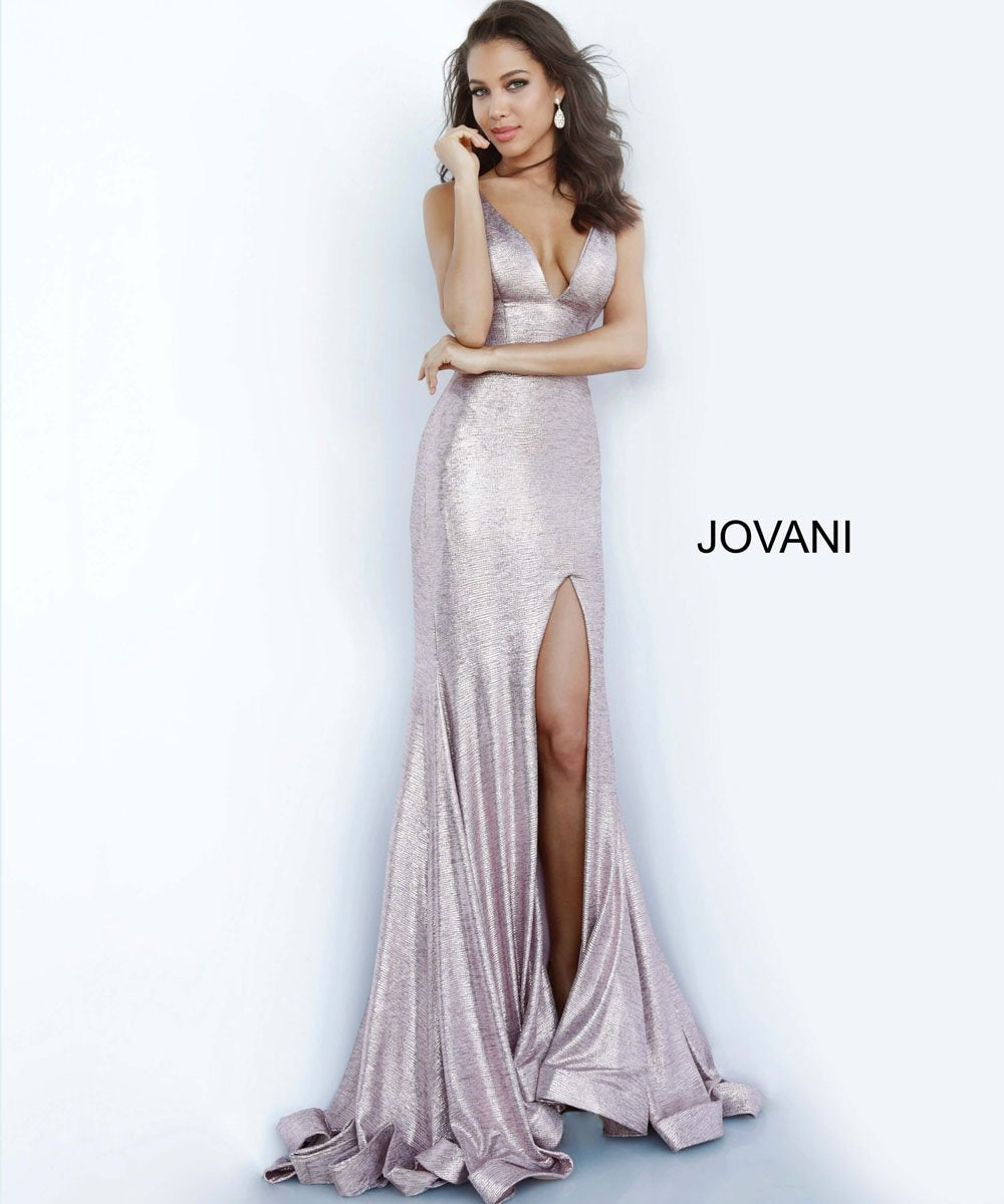 Jovani 67963 prom dress images.  Jovani 67963 is available in these colors: Copper, Navy, Rose, Sand, Silver.